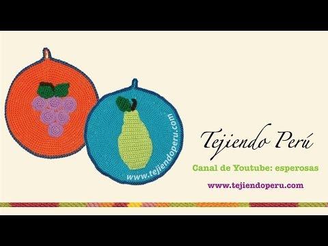 Agarradores de ollas con aplicaciones de frutas