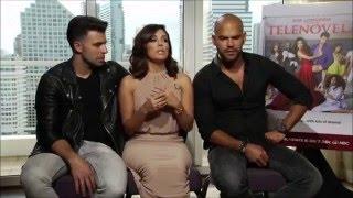 getlinkyoutube.com-Eva Longoria, Jencarlos Canela and Amaury Nolasco talk about Spanish and their sit-com Telenovela