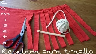 getlinkyoutube.com-Camiseta reciclada para hacer trapillo paso a paso DIY!