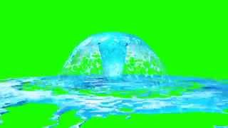 getlinkyoutube.com-Green Screen Realistic Water Geyser RealFlow - Footage PixelBoom