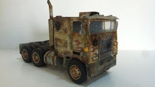 getlinkyoutube.com-AGE OF EXTINCTION evasion truck mode custom paper optimus prime!