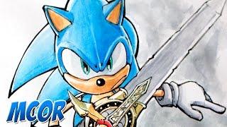 getlinkyoutube.com-Dibujando a Sonic - Tinta y Acuarela - Pedido