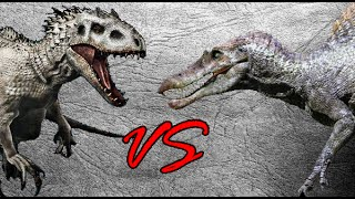 getlinkyoutube.com-Indominus Rex vs Spinosaurus