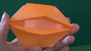 "getlinkyoutube.com-簡単「動く!くちびる」折り紙Easy ""lip It moves! "" origami"