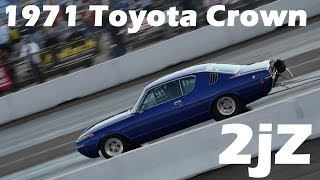 getlinkyoutube.com-8 second 2JZ Toyota Crown Drag Race - Shawn Cassady