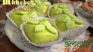 getlinkyoutube.com-gateau algérien: mkhabez aux noix avec glacage royal