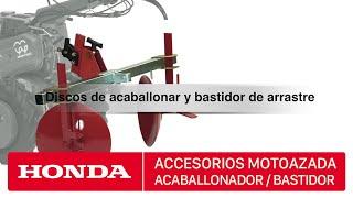 getlinkyoutube.com-Accesorios para motoazadas Honda - Discos de acaballonar y bastidor arrastre