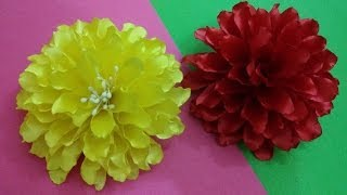 getlinkyoutube.com-D.I.Y. Satin Dahlia Flower - Tutorial | MyInDulzens