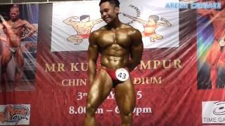 getlinkyoutube.com-Yusof Basuri - Champion of Mr KL 2015, Junior Above 70kg Category