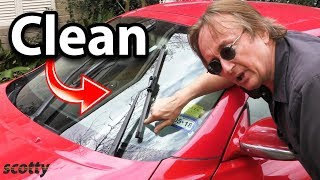 How to Super Clean Your Car's Windshield and Wiper Blades (Life Hack) width=