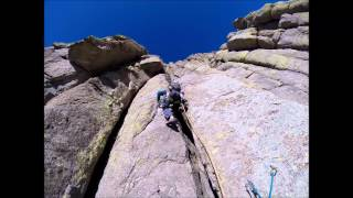 getlinkyoutube.com-Devils Tower Climbing, Durrance Route 5.8, Baily Direct finish