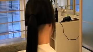 getlinkyoutube.com-momo cut her beautiful long hair