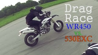 getlinkyoutube.com-WR450 Review Part 2 | Drag Race WR vs. EXC | BLDH