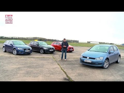 Volkswagen Golf vs Mercedes A-Class vs Audi A3 vs BMW 1 Series - Auto Express