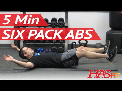 6 Pack in 5 Minutes | Ab Exercises Workout Class by Freddie | How to get a 6 pack fast! HASfit