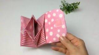 getlinkyoutube.com-主婦のミシン、簡単、蛇腹カードケースの作り方
