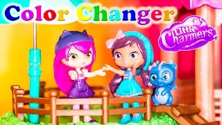 getlinkyoutube.com-LITTLE CHARMERS Nickelodeon  Little Charmers Paint Charmhouse Color Changer Video Parody