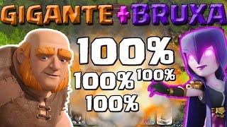 getlinkyoutube.com-(1/2) COMO atacar com GIGANTE e BRUXA - ESTRATEGIA Clash Of Clans