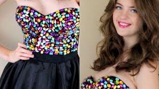 getlinkyoutube.com-Prom 2014 | DIY Dress, Makeup & Hair