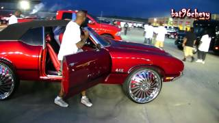 "getlinkyoutube.com-Red Oldsmobile Cutlass 442 Vert on 26"" DUB Swyrl/Davin Emotion Floaters - 1080p HD"