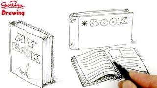 getlinkyoutube.com-How to draw Books