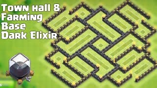 getlinkyoutube.com-Town hall 8 (TH8) New Dark Elixir Farming Base [Alternate] Nice Looking and Defense!!!