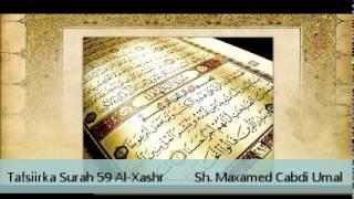 getlinkyoutube.com-Tafsiir Surah 59 Al-Xashr - Sh. Maxamed Cabdi Umal