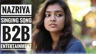 Nazriya and Brother singing @home || Why this kolaveri || kangal irundal