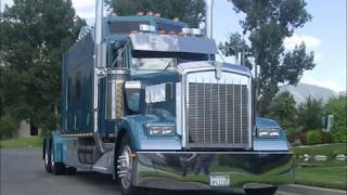 getlinkyoutube.com-Kenworth W900L Custom Aero I Sleeper  - custom semi truck