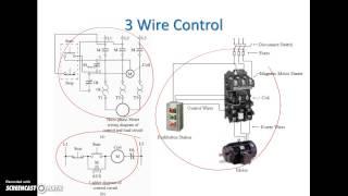 getlinkyoutube.com-Ladder Diagram Basics #3 (2 Wire & 3 Wire Motor Control Circuit)