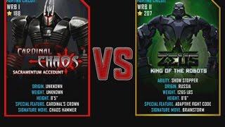 getlinkyoutube.com-Real Steel WRB Cardinal Chaos VS Zeus NEW graphics blows