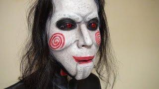 getlinkyoutube.com-「Saw」ビリーザパペットメイク方法(化粧)Billy The Puppet Makeup Tutorial