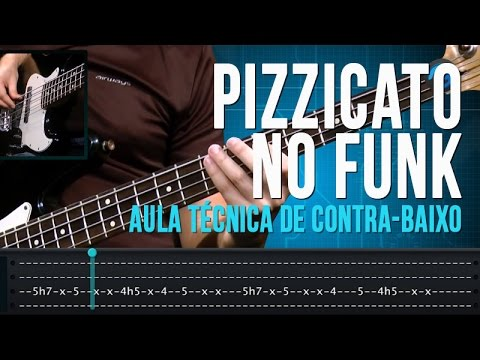 Pizzicato no Funk (aula t�cnica de contra-baixo)