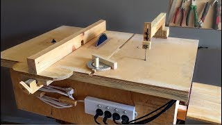 getlinkyoutube.com-Homemade 4 in 1 Workshop (table saw, router table, disc sander jigsaw table) 4 in 1Çalışma İstasyonu