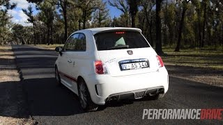 getlinkyoutube.com-2014 Abarth 595 50th Anniversary Edition 0-100km/h & engine sound