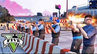 getlinkyoutube.com-GTA V Online - EL ATRACO AL BANCO - 15 VS 1 - Policías Contra Ladrón! - NexxuzHD