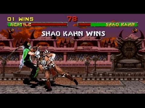 Mortal Kombat arcade kollection PC MK2 playthrough with Reptile