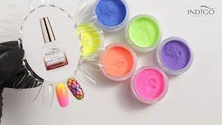 Ombre 3 kolorowe :: Neonowe ombre krok po kroku :: Pudry akrylowe :: Tęczowe paznokcie