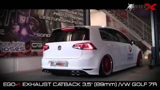 getlinkyoutube.com-BULL X VW Golf 7 R 3,5 CATBACK 89mm