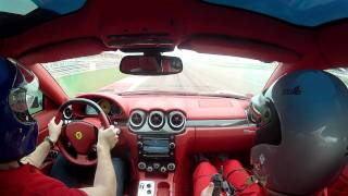 getlinkyoutube.com-My 2011 Ferrari 612 Scaglietti on the GP F1 Circuit