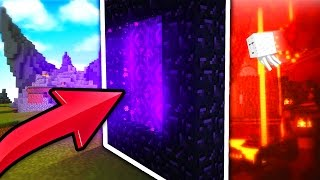 Going To THE NETHER in Minecraft Skywars?!