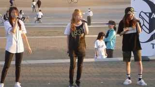 getlinkyoutube.com-230515 The Ark (디아크) Halla, Minju, Yuna - Fifth Harmony Miss Movin' On - Ttukseom Hangang Park 버스킹