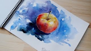 30 Day Challenge || Day 8 || how to paint apple || watercolor tutorial