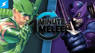 getlinkyoutube.com-One Minute Melee - Green Arrow Vs Hawkeye