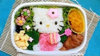 getlinkyoutube.com-キティちゃん弁当 - Hello Kitty Bento