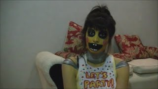 getlinkyoutube.com-Fnaf Toy Chica - Maquillaje Makeup