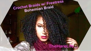 getlinkyoutube.com-Crochet Braids w/ Freetress Bohemian Braid