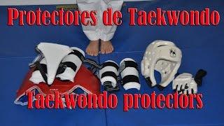 Como ponerse los protectores de Taekwondo