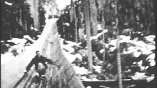 getlinkyoutube.com-USFS - Historical Footage - Clearwater Flume Logging - 1938