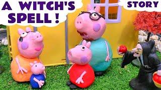 getlinkyoutube.com-Peppa Pig Play Doh Witch's English Episode   Thomas & Friends Shopkins Batman Monsters Inc